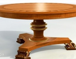میز گرد کلاسیک