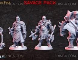 مجموعه کاراکتر مرد جنگجو برای چاپ سه بعدی