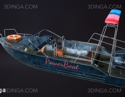 مدل سه بعدی قایق پلیس