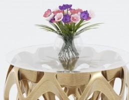 میز عسلی + گلدان