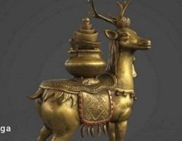 مجسمه آهو طلایی