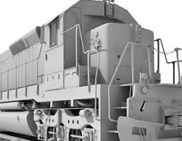 مدل لوکوموتیو قطار با واگن