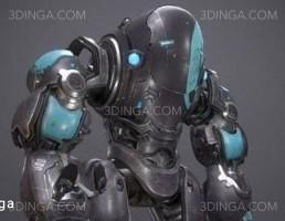 مدل سه بعدی کاراکتر ربات
