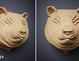 مجسمه سر خرس