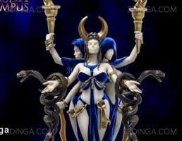 کاراکتر کارتونی زن جادوگر برای چاپ سه بعدی