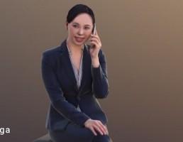 کاراکتر زن در حال تلفن کردن