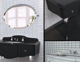 آینه + کمد روشویی کلاسیک