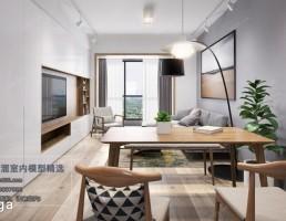 صحنه داخلی سالن غذا خوری +آشپزخانه سبک نودریک