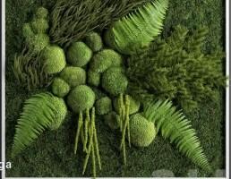 پانل دیواری به شکل گیاه