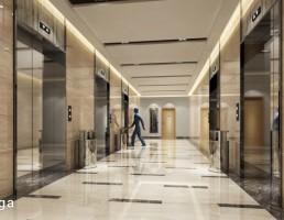 صحنه داخلی راهرو هتل + آسانسور