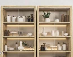 کابینت آشپزخانه + ظروف آشپزخانه