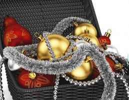 سبد میوه کریسمس