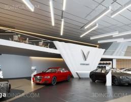 صحنه داخلی سالن نمایشگاه ماشین