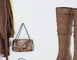 ست مانتو + کیف + کفش چرمی
