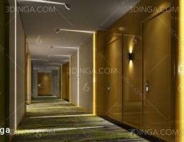صحنه داخلی سالن آسانسور و راهرو
