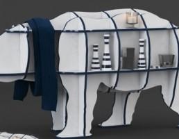 قفسه به شکل خرس