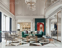 اتاق نشیمن دوبلکس سبک اروپایی