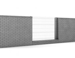 دیوار و نرده فلزی