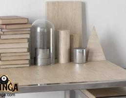 میز + کتاب + وسایل تزیینی