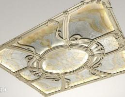 گچبری برای سقف همراه با شیشه