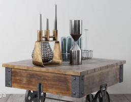 میز چوبی چرخدار