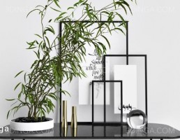میز عسلی + تابلو + گلدان