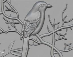 پرنده و درخت برای CNC