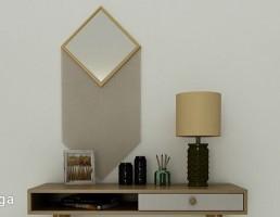 میز + آباژور + آینه