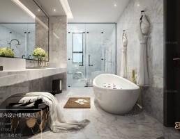 صحنه داخلی حمام و توالت مدرن 3