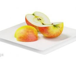 بشقاب  + سیب