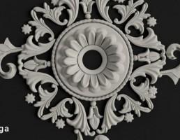 گچبری کلاسیک به شکل گل