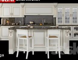 نمای داخلی آشپزخانه کلاسیک