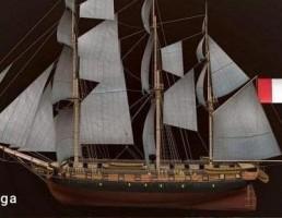 کشتی با برچم کشور فرانسه