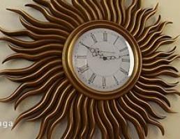 ساعت دیواری به شکل خورشید