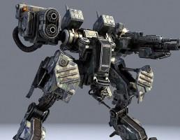 مدل سه بعدی ربات جنگجو