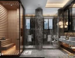 صحنه ی داخلی حمام
