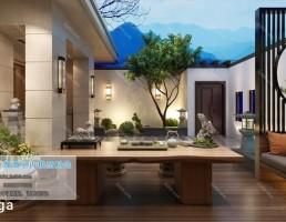 صحنه داخلی حیاط چینی