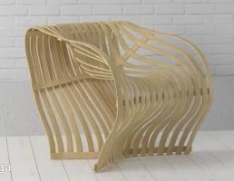 صندلی چوبی فانتزی