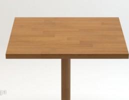 میز مدرن با پایه فلزی و چوبی