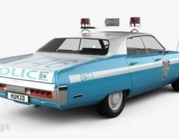 ماشین پلیس پلیموت سال 1972