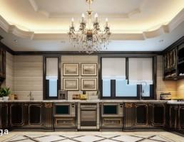 فضای آشپزخانه کلاسیک