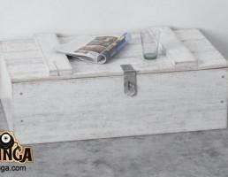 صندوق چوبی + روزنامه + لیوان