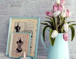 گل لاله + شمعدان + گردنبند + تابلو