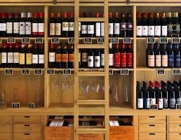 قفسه بطری کلاسیک فروشگاه و بار