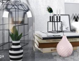 کتاب + گلدان تزیینی