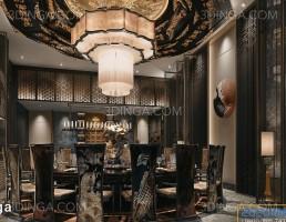 صحنه داخلی اتاق خصوصی رستوران