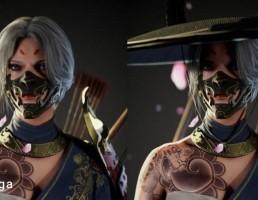 کاراکتر زن سامورایی