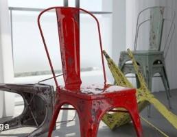 صندلی فلزی کهنه