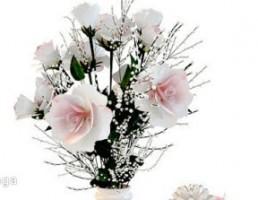 گلدان + گل + جعبه + آینه