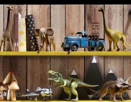 باکس چوبی عروسک و اسباب بازی